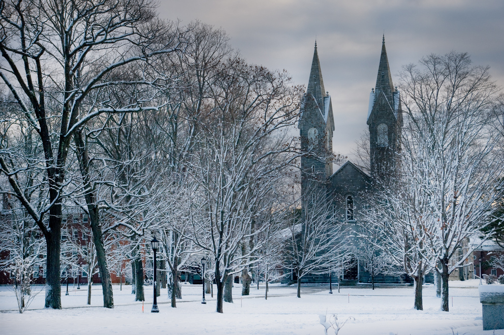 Bowdoin College CampusBates College Campus Winter