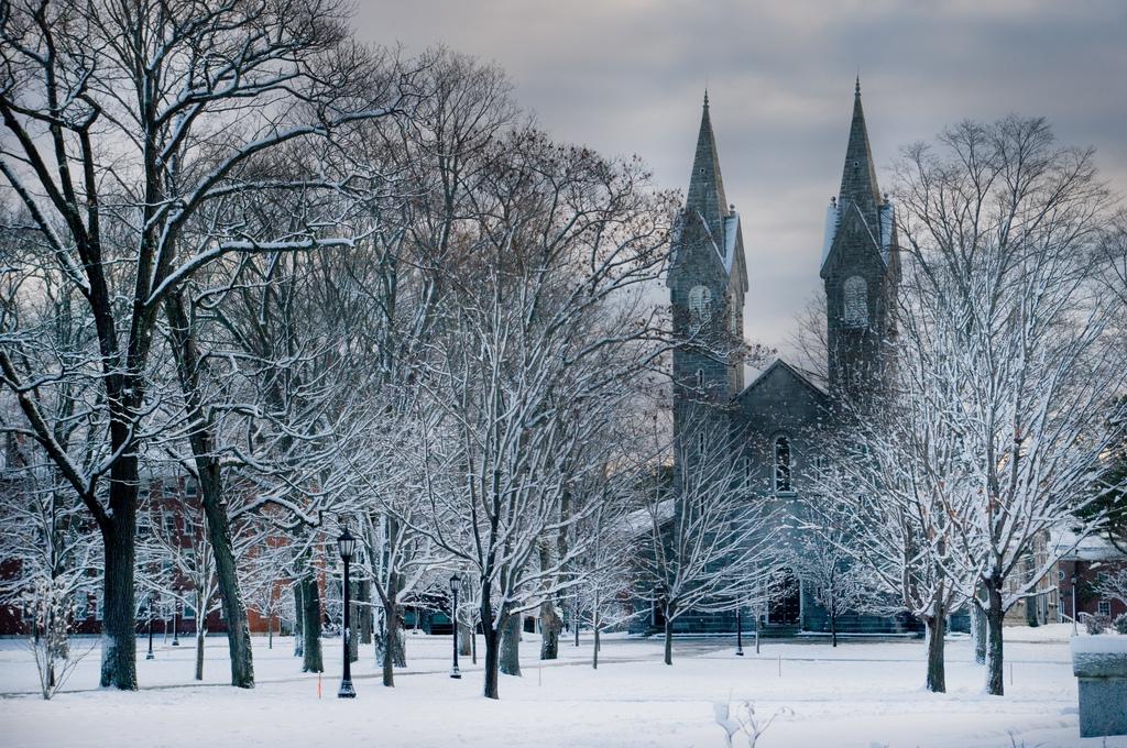 Bowdoin College CampusBates College Campus Winter