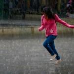 Skipping in the rain