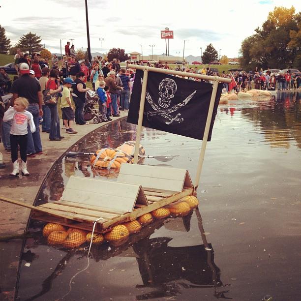 Ginormous floating pumpkin race 2012